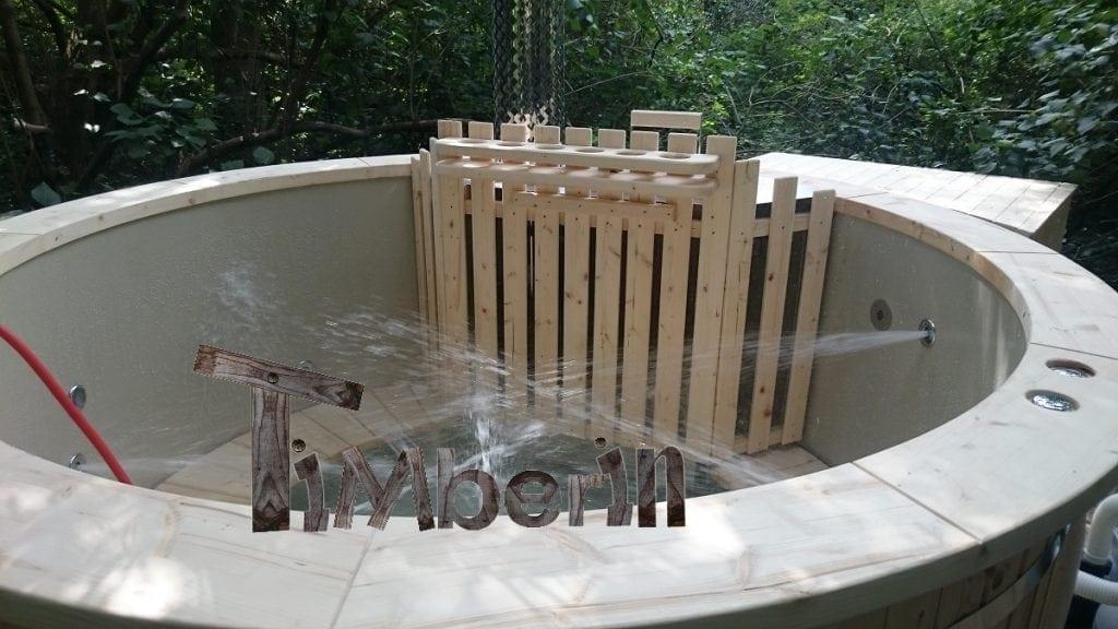 Het Vullen Van De Hot Tub Van Polypropyleen Met Een Interne Verwarmer
