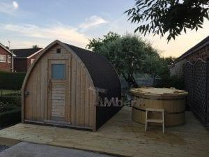 Igloo Outdoor Sauna And Wood Fired Wooden Hot Tub, Philip, Selston, UK