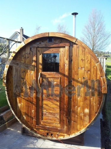 Outdoor Barrel Sauna Galashiels, UK (4)