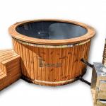 Buiten hottub met externe kachel: hout - diesel - gaskachel - pelletkachel kopen
