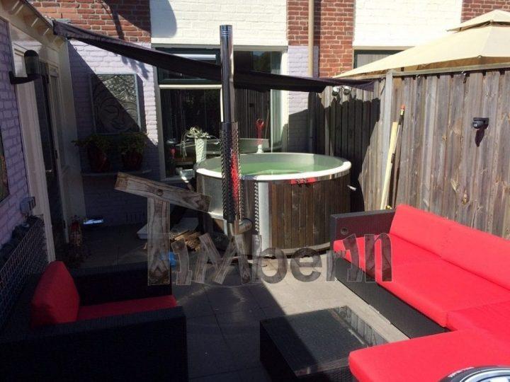 Fiberglas Hot Tub Met Interieur Oven En Lorkenhout Gerco Lochem Netherlands