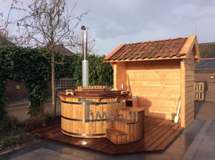 Houten Hottub Thermohout Deluxe, Etty, Roden, Netherlands (1)