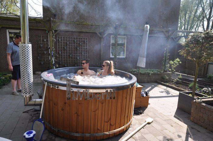 Hottub Fiberglas Met Geintegreerde Kachel Thermohout Wellness Royal, Ron, Dordrecht, Netherlands