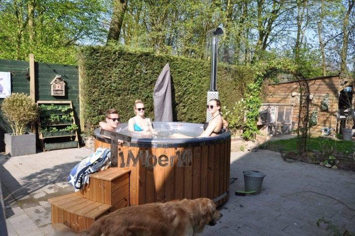Hottub Fiberglas Met Geintegreerde Kachel Thermohout Wellness Royal, Ron, Dordrecht, Netherlands (2)