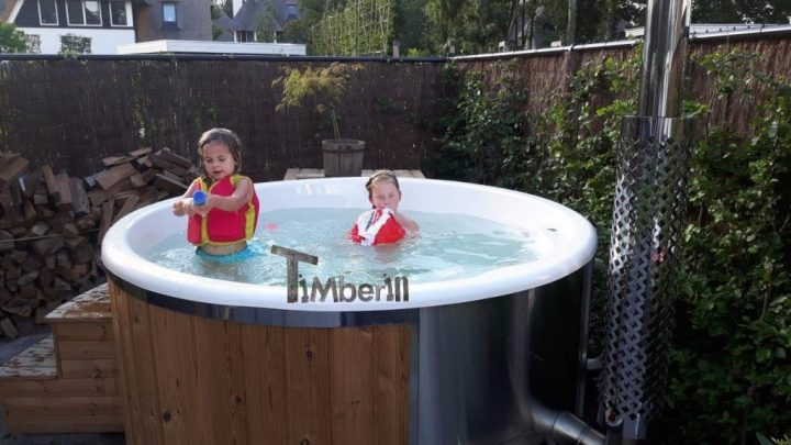 Hottub Fiberglas Met Geintegreerde Kachel Thermohout Wellness Royal, Klaas, Naarden, Netherlands (1)