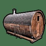 Buitensauna rond barrel kopen