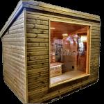 Moderne Sauna Voor Buiten In De Tuin (1)