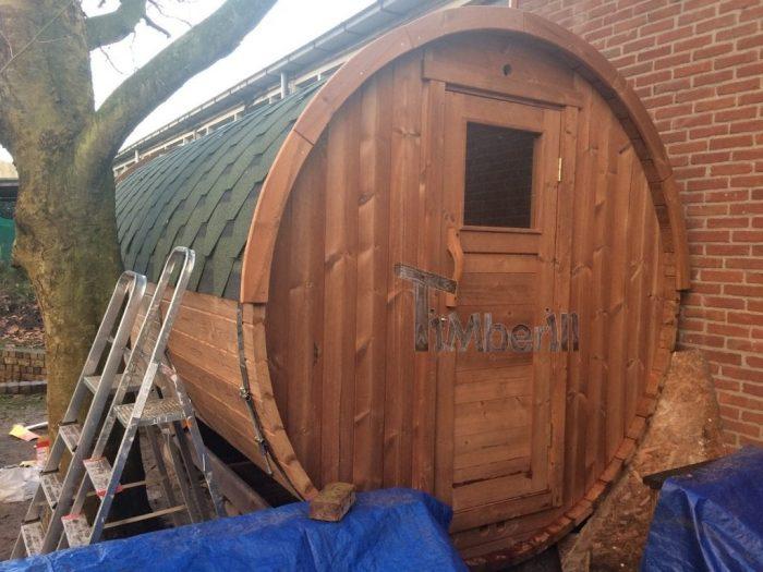 Outdoor – Buiten Houten Tuin Sauna Rond, Bart, Hoofdstraat, Nederland (2)