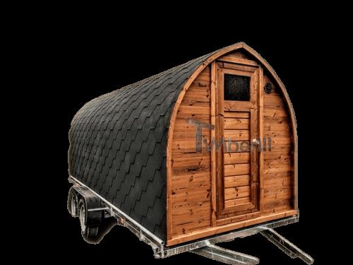 Igloo Sauna Met Aanhanger Kleedkamer En Harvia Oven (1)