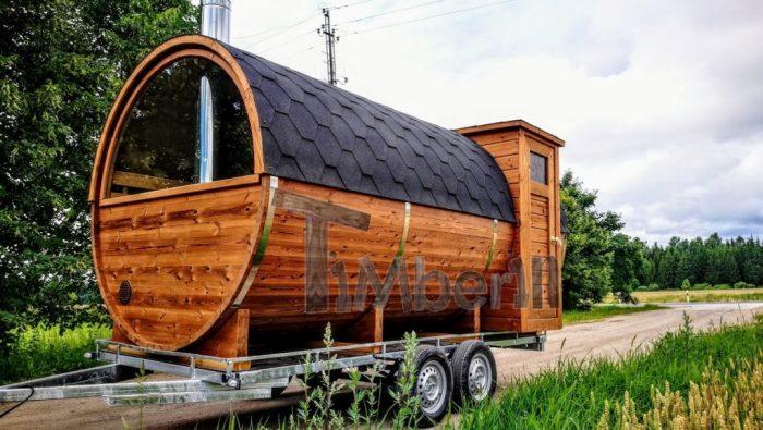 Mobile Buitensauna Aanhangwagen
